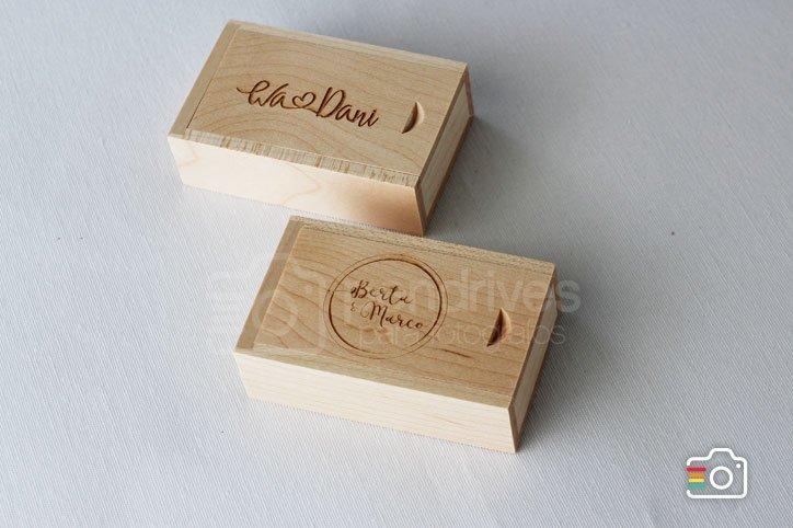 Boite en bois pour clés USB